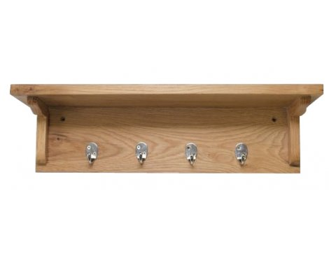 Lansdown Oak Wall Mounted Coat Rack