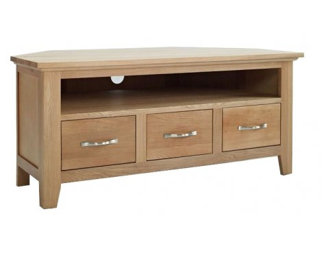 Sherwood Oak Corner TV/Video Unit