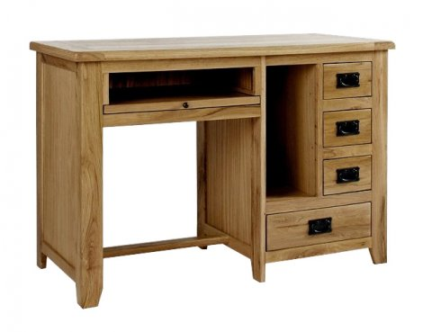 Westbury Reclaimed Oak Single Pedestal Desk