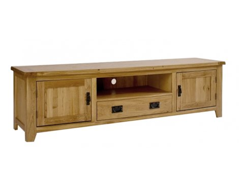 Westbury Reclaimed Oak Widescreen TV Cabinet