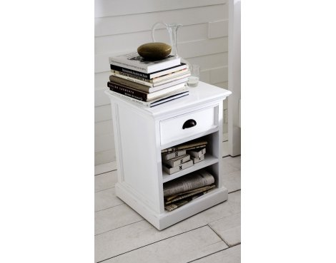 Whitehaven Painted Bedside With Shelf