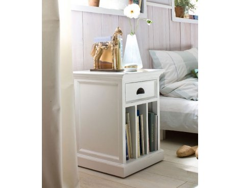 Whitehaven Painted Bedside With Vertical Compartments