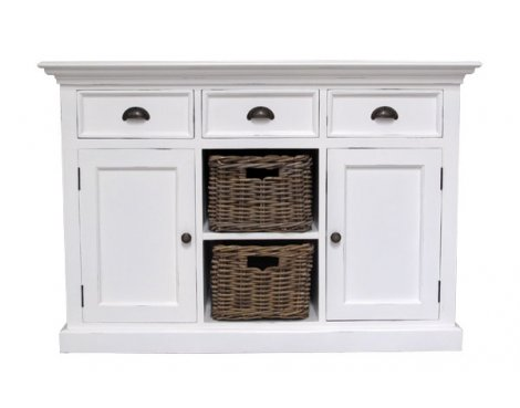 Whitehaven Painted Buffet With 2 Baskets