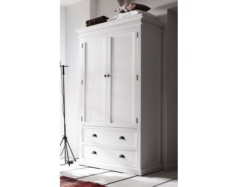 Whitehaven Painted Double Wardobe with Drawers