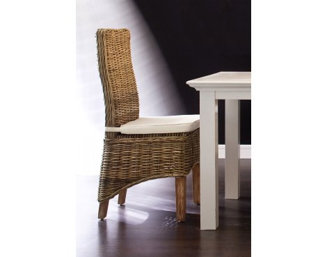 Whitehaven Painted Rattan Dining Chair With Cushion