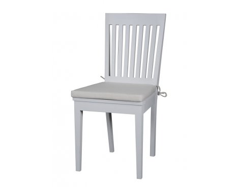 Whitehaven Painted Slatback Dining Chairs With Cushion - PAIR