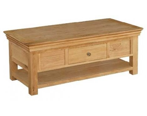 Normandy Oak Coffee Table With Drawer