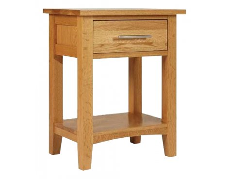 Hereford Oak 1 Drawer Bedside Cabinet