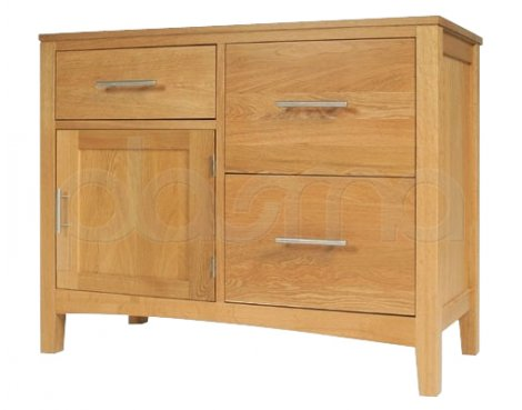Hereford Oak Double Unit with Cupboard