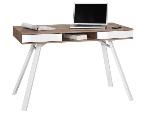 Maja Chelsea Oak & White Laptop Desk