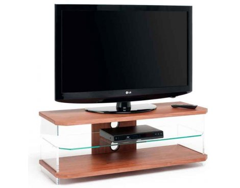 Techlink Air Walnut TV Stand For TVs up to 50""