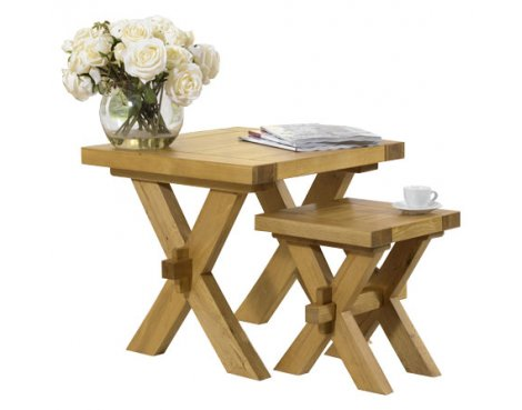 Mark Harris Avignon Oak Nest of Tables