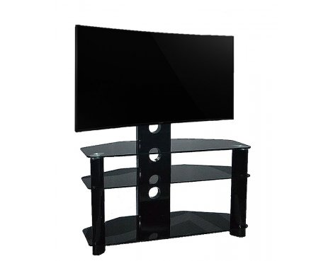Piano Black Universal TV Stand With Bracket for TVs up To 50""