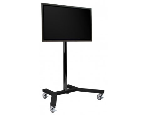 "B GRADE/Box slightly damaged B-Tech 1.1m Trolley Stand for up to 65"" TVs"