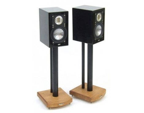 MOSECO 5 Black & Medium Bamboo Speaker Stands