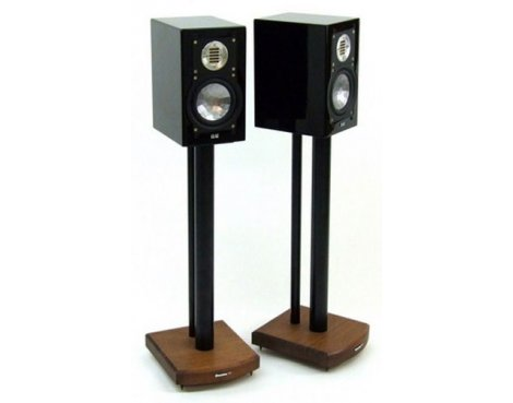 MOSECO 6 Black & Dark Bamboo Speaker Stands