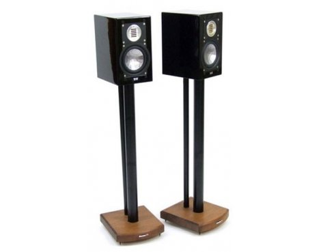 MOSECO 7 Black & Dark Bamboo Speaker Stands