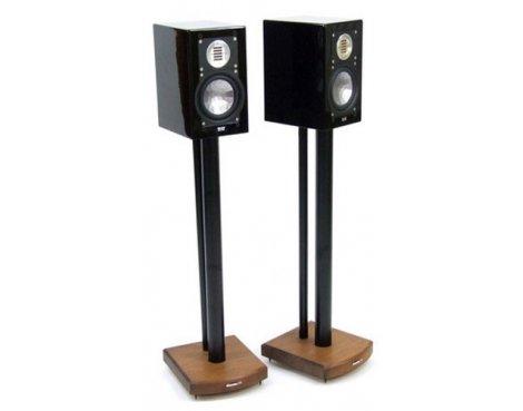 MOSECO 7 Black & Dark Bamboo Speaker Stands