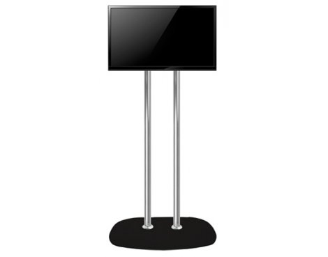 """B-Tech 2m Twin Pole Floor Stand For Up To 65\"""""""