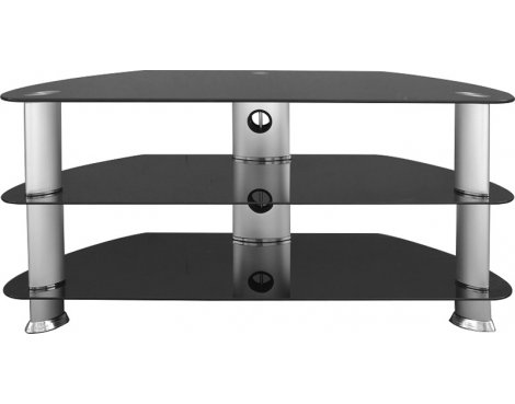 "B GRADE/Box slightly damaged Universal Black TV Stand For up to 42"" TVs"