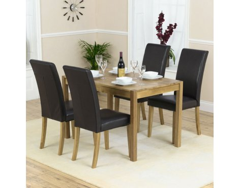 Mark Harris Atlanta Solid Oak Dining Set with 4 Chairs