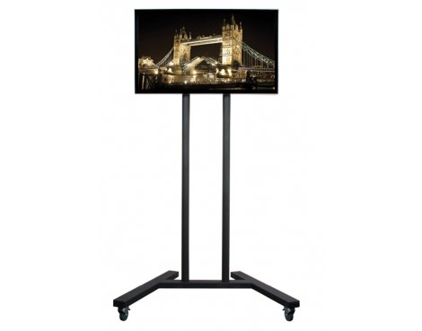 "B-Tech Trolley Stand with Castors for up to 55"" TVs"
