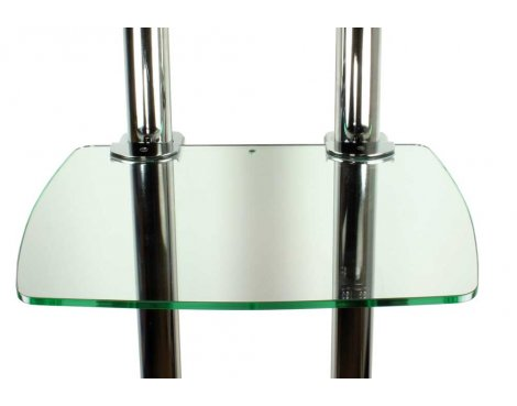 Glass Shelf and Fixing for B-Tech Twin Pole Floor Stands