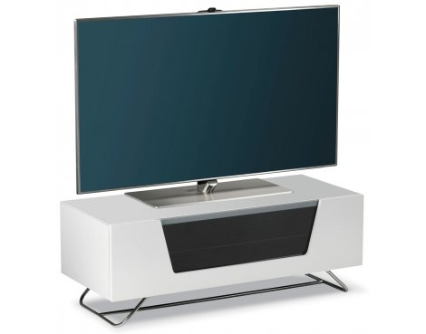 "Alphason Chromium White TV Stand for up to 50"" TVs"