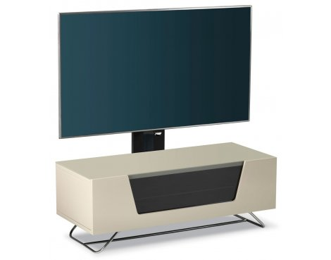 Alphason Chromium Ivory Cantilever TV Stand