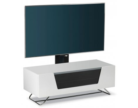 B Grade Alphason Chromium White Cantilever TV Stand