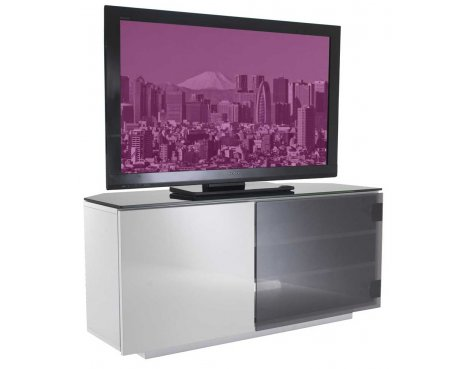 Tokyo High Gloss Black & White TV Stand