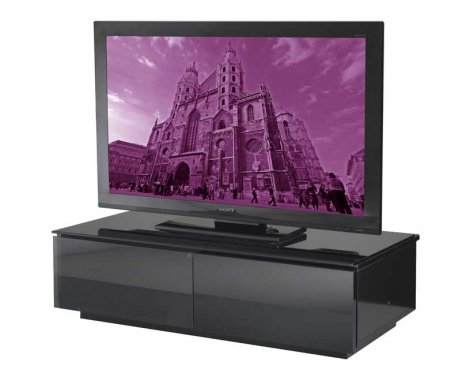 Vienna High Gloss Black TV Stand