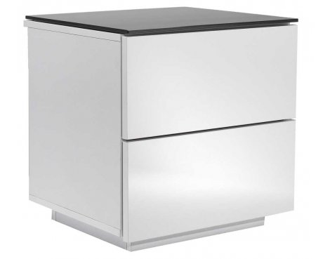 Oslo High Gloss Black & White Drawer Unit