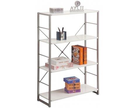 Alphason Cabrini White 4 Shelf Bookcase