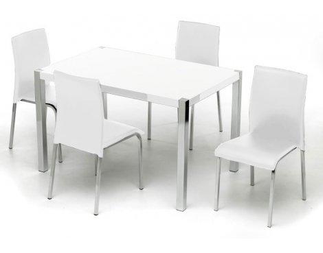 Charisma High Gloss White Rectangular Dining Set
