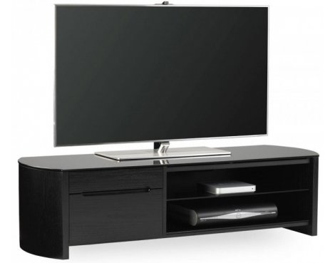 Alphason FW1350CB Black Oak Veneer TV Stand