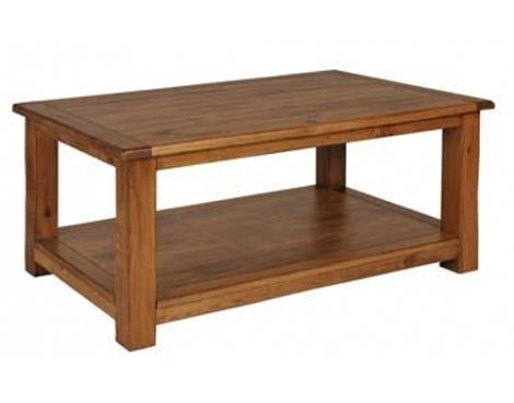 Denver Aged Wood Effect Coffee Table