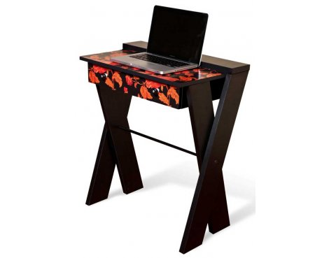 Alphason Mekablock Bilbao Computer Workstation in Black & Orange