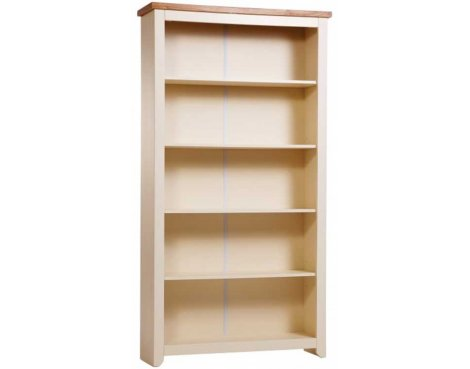 Jamestown Cream Tall Bookcase with 4 Shelves
