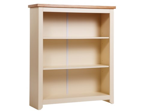 Jamestown Cream Low Bookcase with 2 Shelves