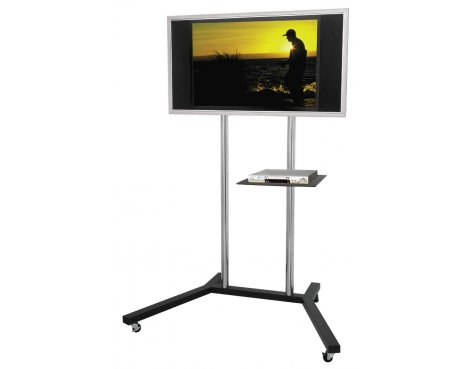 Twin Pole Trolley Stand with Shelf - 1.5m
