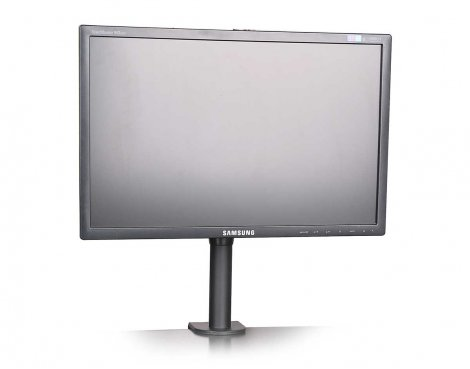 "Universal Desktop Stand for up to 27"" Monitors"
