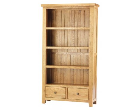Ultimum Kent Contemporary Large Oak Bookcase