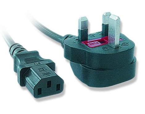 UK Mains IEC Power Cable Female 10.0m
