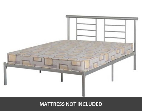 "ValuFurniture Lynx 4\'6"" Double Bed with Low End"