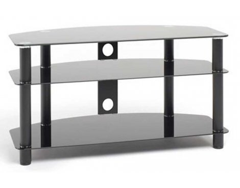 """Techlink Dais Universal Black TV Stand for up to 42\"""" TVs"""