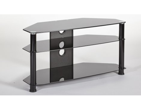 """B GRADE MMT Jet DB1150 Black Glass TV Stand for up to 50\"""""""