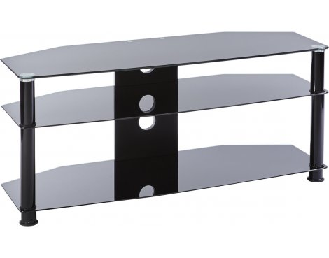 MMT Jet DB1150 Black Glass TV Stand for up to 50""