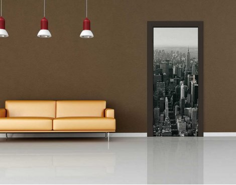 1Wall New York Skyline Door Mural