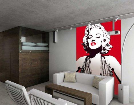 1Wall Marilyn Monroe Wall Mural